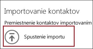 Spustenie importu