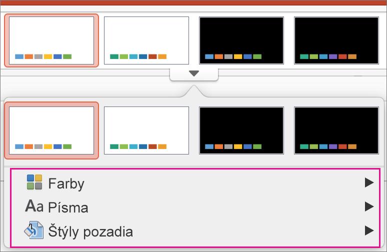 PowerPoint for Mac Galéria variantov