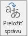 Tlačidlo Translator pre Outlook