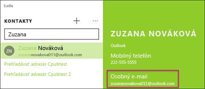 Kontakt musí mať platnú e-mailovú adresu