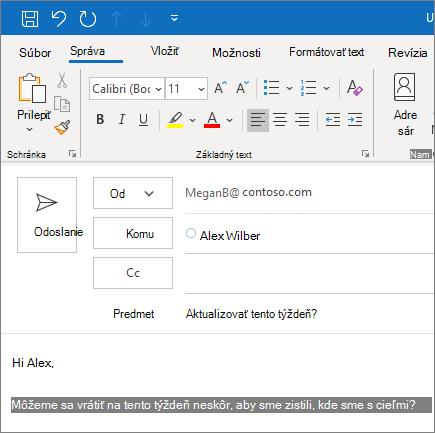 Vytvorenie aodoslanie e-mailu