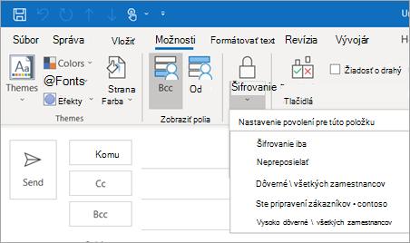 Encrypt button options
