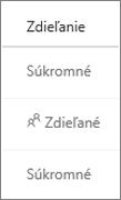 Zobrazenie stavu zdieľania vo OneDrive for Business