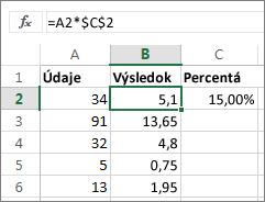 Násobenie čísel percentami