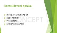Príklad textovej vodotlače KONCEPT ako pozadia powerpointovej snímky