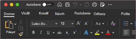 Tmavý motív pre Word v systéme macOS