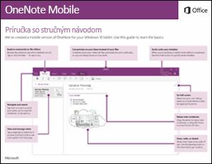 Príručka so stručným návodom pre OneNote Mobile