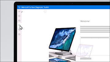 Snímka obrazovky nástroja diagnostiky pre Surface