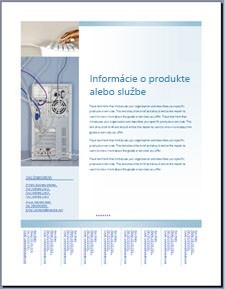 Šablóna letáka (vjemných modrých odtieňoch) na lokalite Office Online