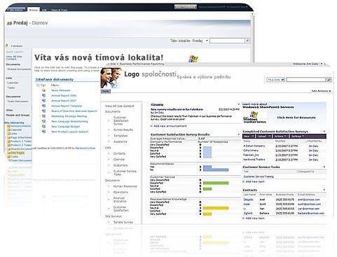 Lokality vytvorené v programe SharePoint Designer 2010