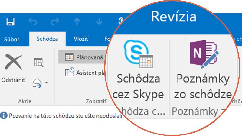 Spolupráca so Skypom a OneNotom
