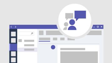 Komunikácia alebo schôdze pomocou aplikácie Teams.