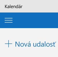 Pridanie novej udalosti do aplikácie Kalendár