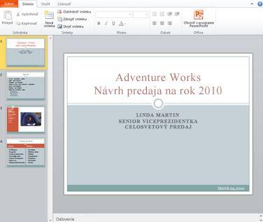 Aplikácia PowerPoint Web App