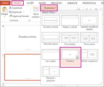 Opätovné použitie rozloženia, ktoré ste zmenili v zobrazení predlohy snímok
