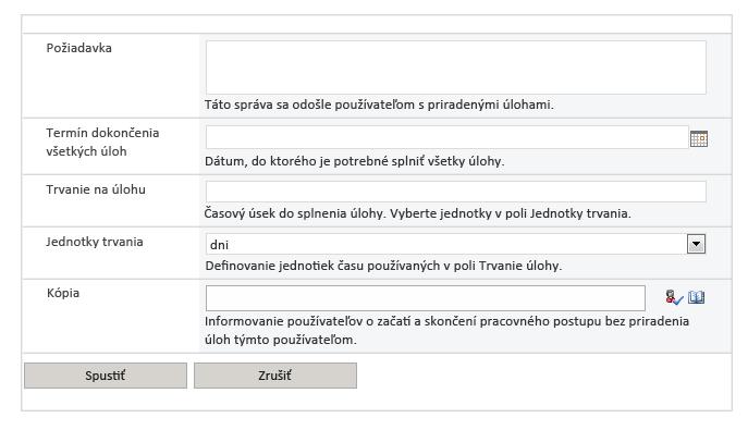 Obrázok obrazovky pracovného postupu