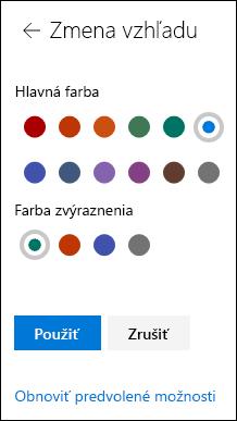 Prispôsobenie motívu lokality SharePoint