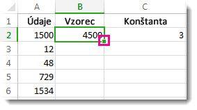 Násobenie stĺpca čísel rovnakým číslom - Excel 70b588fa2c7