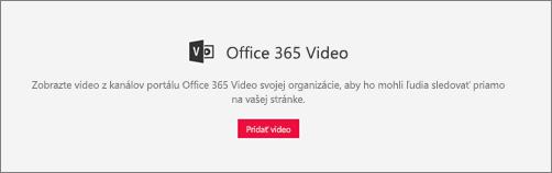 Office 365 Video webovej časti