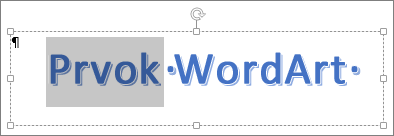 Čiastočne vybratý text WordArt