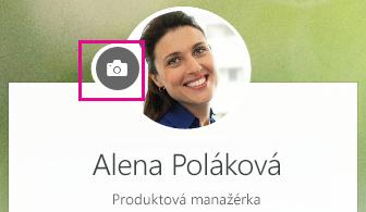 Kliknutím na ikonu kamery zmeníte svoju fotografiu
