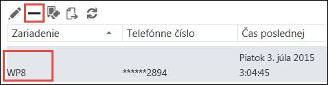 Odstránenie telefónu zaplikácie Outlook Web App