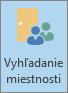Outlook, tlačidlo Vyhľadávač miestností