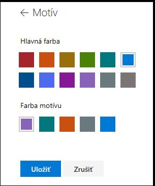 Prispôsobenie farieb motívu lokality SharePoint