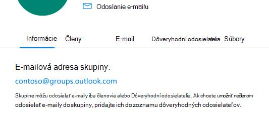 Pridajte dôveryhodných odosielateľov do Outlook.com skupiny.