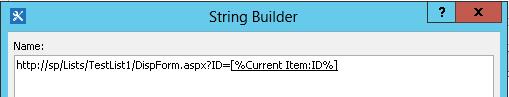 Vloženie hypertextového prepojenia pre položku zoznamu 4