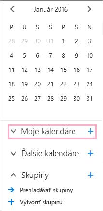 Pridanie nového kalendára