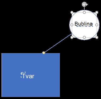 Tvar Visia a jeho priradená bublina.