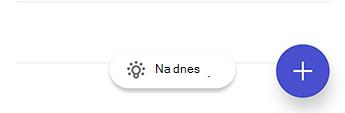 Snímka obrazovky s úlohami v Androide zobrazujúca ikonu žiarovky, za ktorou nasleduje text na dnešný deň.