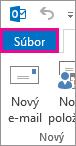 Karta Súbor v Outlooku