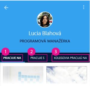 Delve pre Android – stránka používateľa