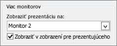 Možnosti monitora vPowerPointe 2010