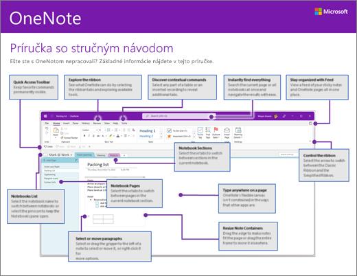 Príručka so stručným návodom pre OneNote 2016 (Windows)