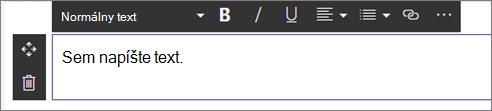 Webová časť text