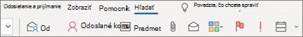 Používanie vyhľadávania v Outlooku