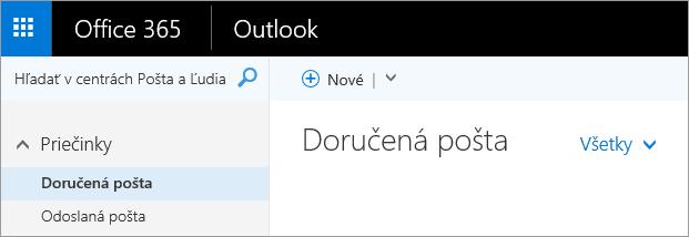 Obrázok pása s nástrojmi v Outlooku na webe.
