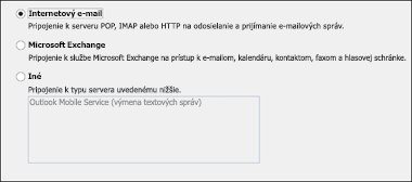 Výber internetového e-mailu
