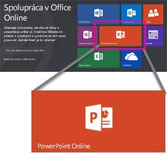Vyberte PowerPoint Online