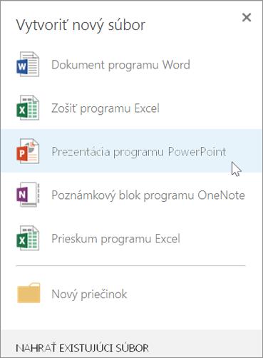 Vytvorenie novej powerpointovej prezentácie