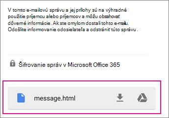 Zobrazovač OME so službou Gmail v zariadení s Androidom 1