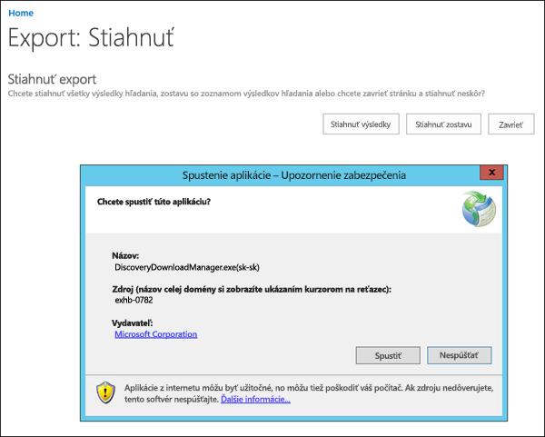 Upozornenie zabezpečenia pre elektronického vyhľadávania Download Manager