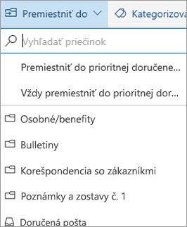 Prioritná doručená pošta v Outlooku na webe