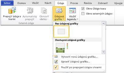 Výberom položky Bez údajovej grafiky odstráňte údajovú grafiku z tvaru.