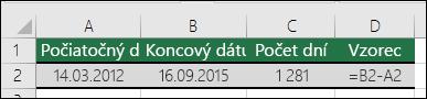 Výpočet rozdielu medzi dátumami