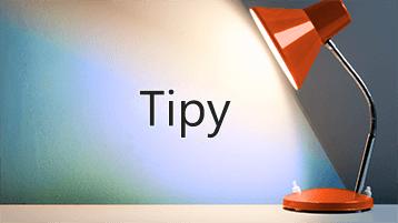 Svetlo svietiace na slovo Tipy