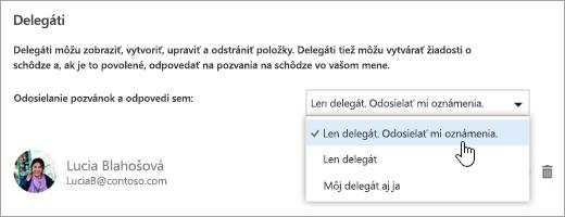 Snímka obrazovky dialógového okna Zdieľanie tohto kalendára.